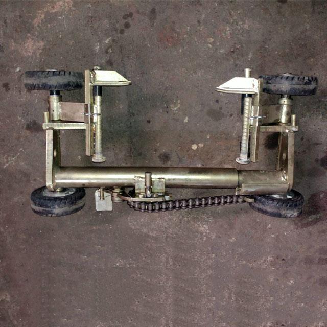 ساخت اسکیت چرخ های عقب