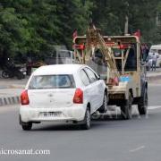 آموزش یدک کشی خودرو با چرخگیر